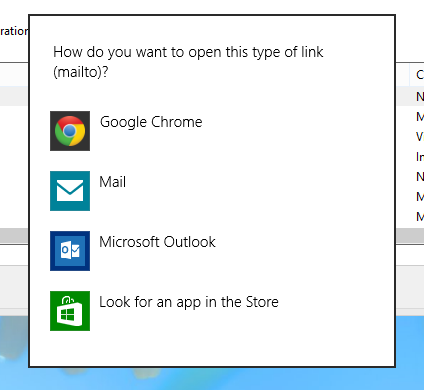 "Change Default E-mail ""Open With"" behavior in Windows 8"