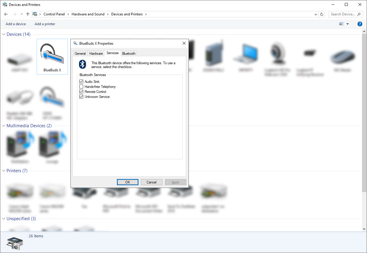Fix for poor A2DP quality for Bluetooth headphones under Windows 8