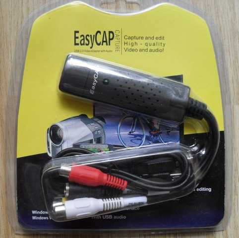 EasyCap USB 2861 packaging with windows 10 drivers