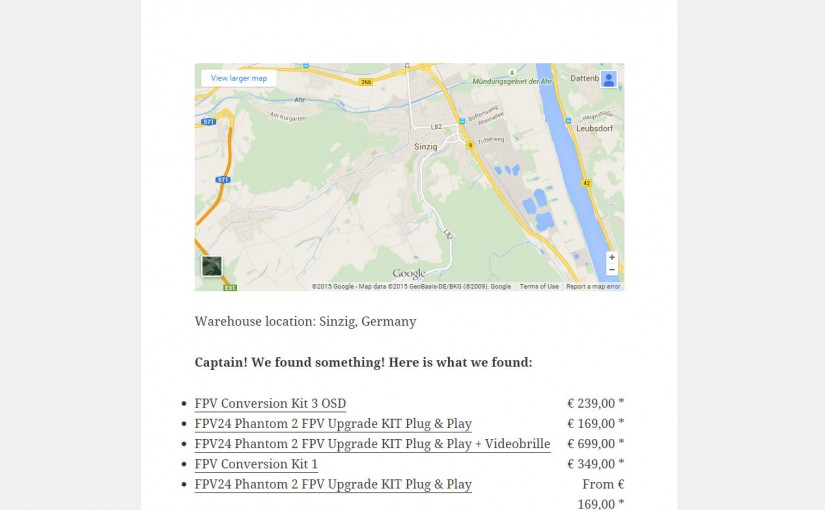 3DR distributor and price list search