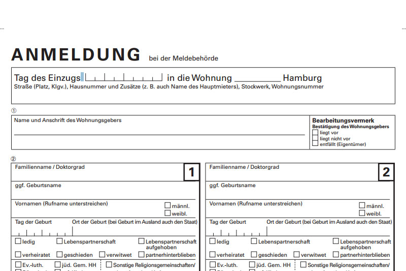 Address registration in Germany