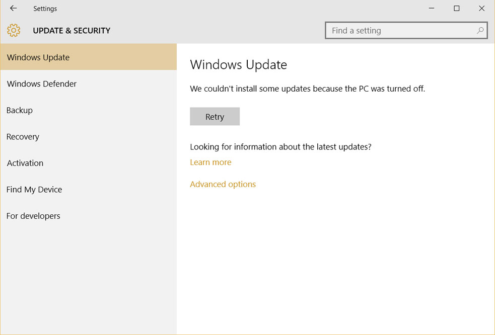 Pause automatic windows 10 updates