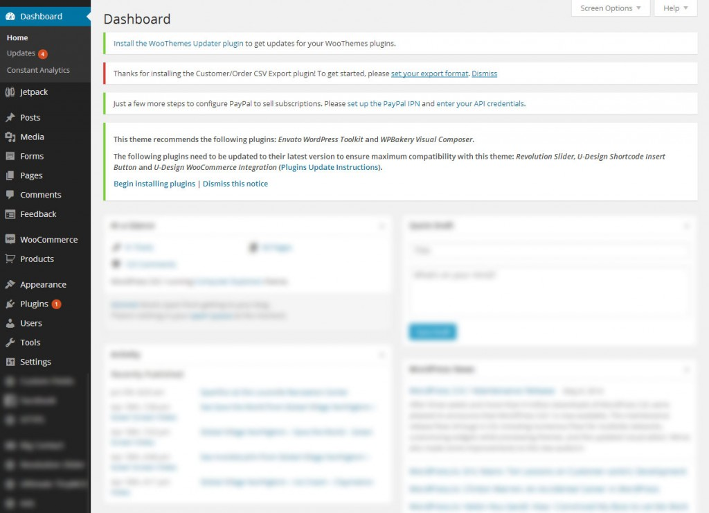 WordPress Admin Notices for WooCommerce