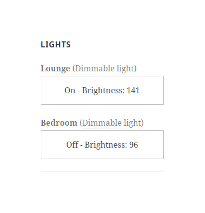Philips hue WordPress widget, switch lights on off
