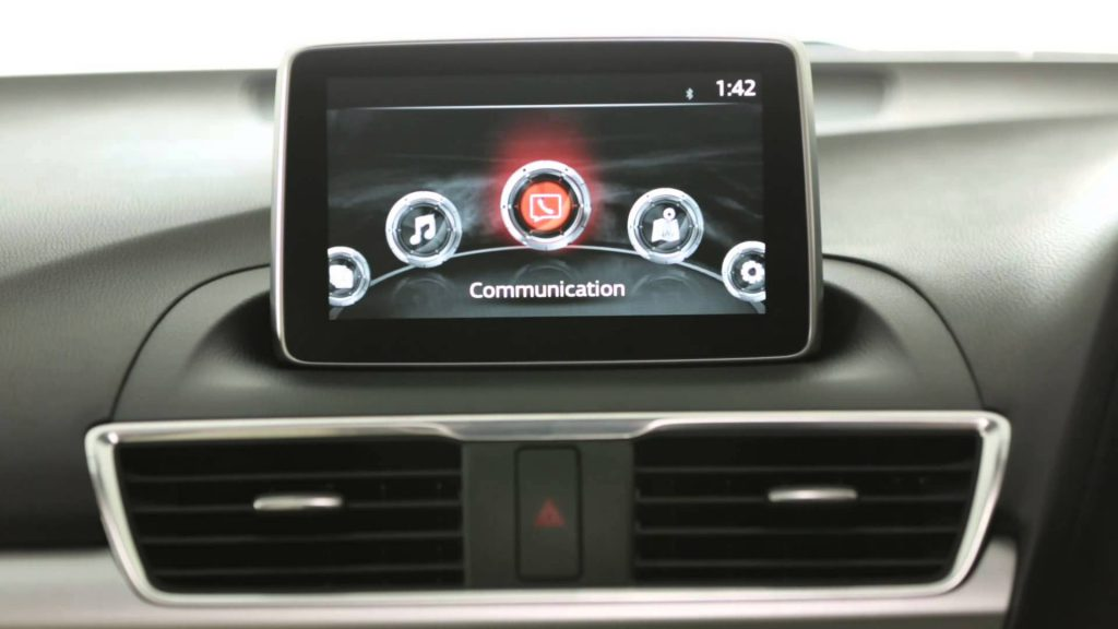 Mazda Connect information entertainment system in the Mazda 3 2017 Model