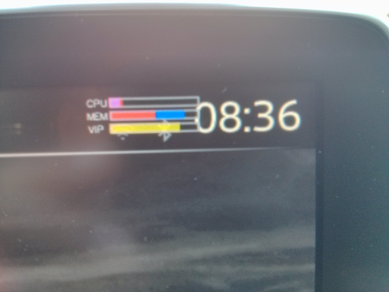Toggle the System Monitor (CPU and memory) overlay on the
